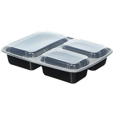 10 Pack Compartment Lunch Box Bento Boxes with Lids - Multi Purpose Storage Containers for Baby...