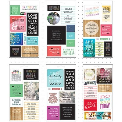 Me & My Big Ideas Pocket Pages Clear Stickers 6 Sheets/Pkg-Love Yourself by Me & My Big Ideas