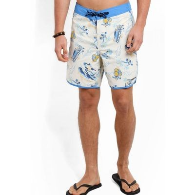 パタゴニア 海パン Scallop Hem Wavefarer Board Shorts 18 white and multi