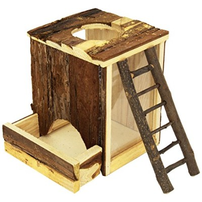 Trixie Pet Products Natural Wood Digging Tower for Mice 9 x 6 x 8 Inch by TRIXIE Pet Products