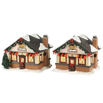 Department 56 Original Snow Village Harley Roadside Cabins Lit House, 12cm