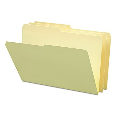 File Folders, 1/2 Cut, One-Ply Top Tab, Legal, Manila, 100/Box (並行輸入品)