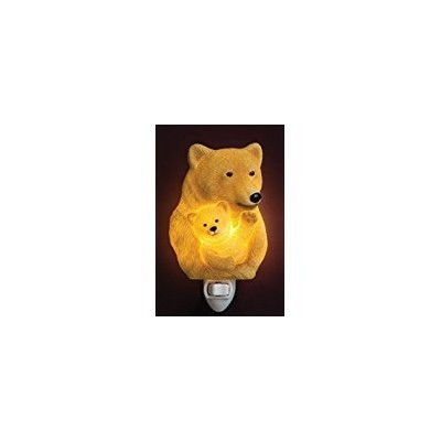 Ibis & Orchid Bear & Cub Night Light # 50190