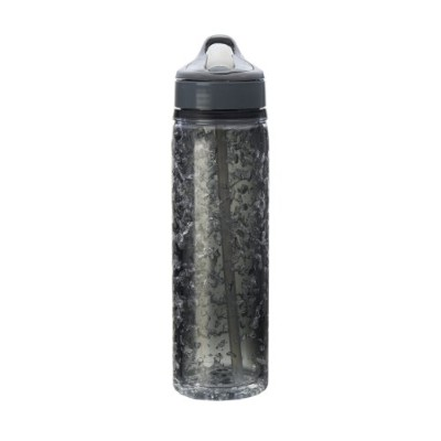 Design For Living Double Wall Tritan Water Bottle with Crackle Gel, 18-Ounce 水筒 500ml スモーク