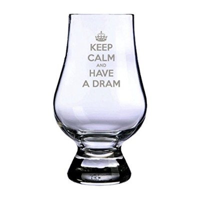 "Glencairn Whisky Tasting Glass -""Keep Calm and have a Dram"". Made in Scotland"