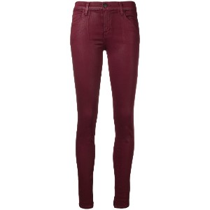 J Brand oil coated skinny jeans - ピンク