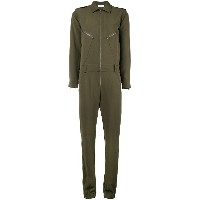 P.A.R.O.S.H. slim-fit zipped jumpsuit - グリーン
