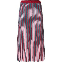 Kenzo striped knitted skirt - レッド