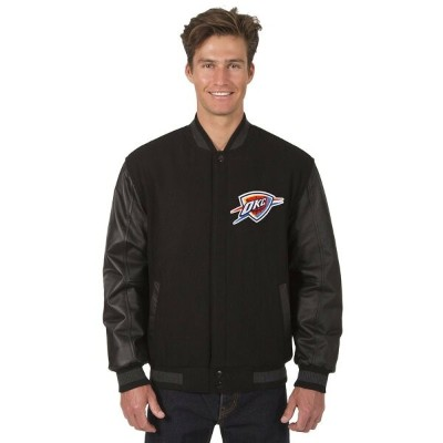 JH デザイン JH Design メンズ アウター レザージャケット【Oklahoma City Thunder Adult Wool and Leather Reversible Jacket...