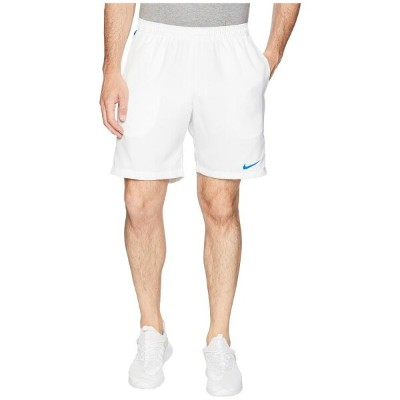 ナイキ Nike メンズ テニス ボトムス・パンツ【Court Dry 9' Tennis Short】White/Military Blue/Military Blue