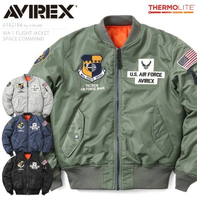 【20%OFF大特価】AVIREX アビレックス 6182184 MA-1 フライトジャケット SPACE COMMAND《WIP》ミリタリー 軍物 メンズ 男性 ギフト プレゼント