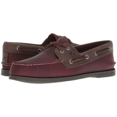 スペリー Sperry メンズ シューズ・靴 デッキシューズ【A/O 2-Eye Richtown Pullup Boat Shoe】Burgundy/Grey