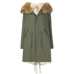 Furs66 fur trim parka - グリーン