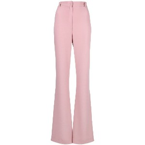 Hebe Studio flared high-waist trousers - ピンク