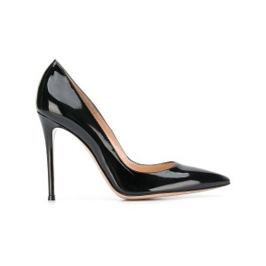 Gianvito Rossi pointed court shoes - ブラック