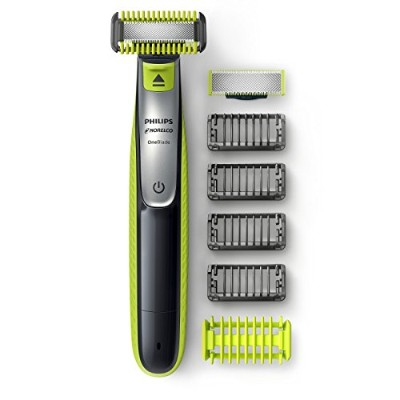 Philips Norelco OneBlade Hybrid Rechargeable Trimmer QP2630/70 ハイブリッド充電式メンズ電動フェイス&ボディトリマ ヒゲ、毛そり ...