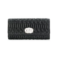 Miu Miu Matelassé leather wallet - ブラック