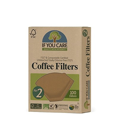 If You Careコーヒーフィルタ、8インチバスケットin Poly Bag、100-count Packages (Pack of 24 )