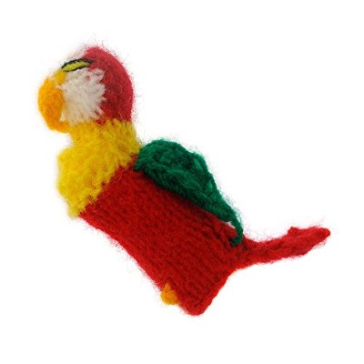 Finger puppet parrot Punch-and-Judy theatre Toy for playing and learning hand knitted soft wool for...