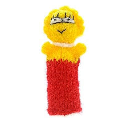 (red-yellow) - The Simpsons Finger Puppet, Kasperle Theatre to play and learn, toys hand knitted...