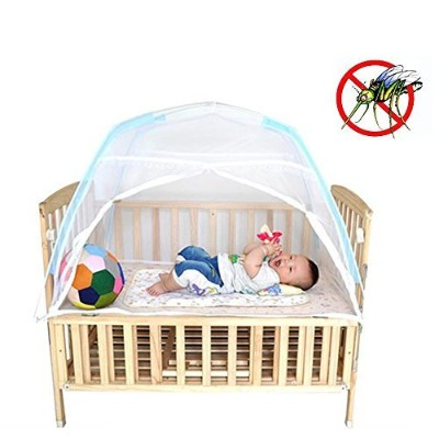 Baby Kids Infant Nursery Bed Crib Canopy Mosquito Net Netting Play Tent House by COFFLED
