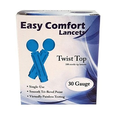 EASY COMFORT TWIST TOP LANCETS by Home Aide Diagnostics, Inc.