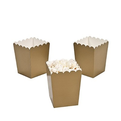 Mini Gold Popcorn Boxes by adventure's bag
