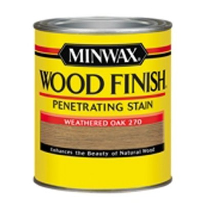 Minwax 227604444木製Stain Penetrating内部木製Stain、1 / 2パイント、Weathered Oak