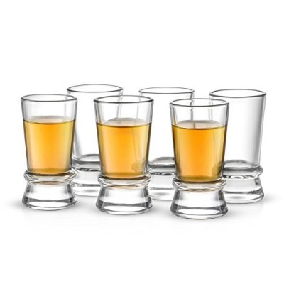 JoyJolt Afina Collection 6-Pack Heavy Base Shot Glass Set, 45ml Shot Glasses