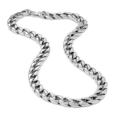 (23.0 inches) - Urban-Jewellery Powerful Stainless Steel Men's Chain Necklace Ultra Thick and Wide