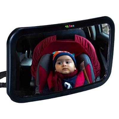 The Largest & Clearest Baby Car Mirror - Rear Facing - Up to 40% Larger than other mirrors - for...