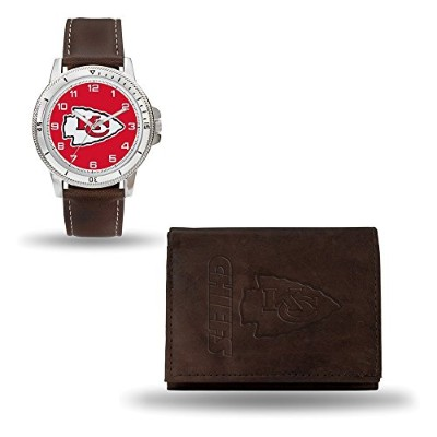 NFL Kansas City ChiefsレザーWatch /財布セットby Rico Industries