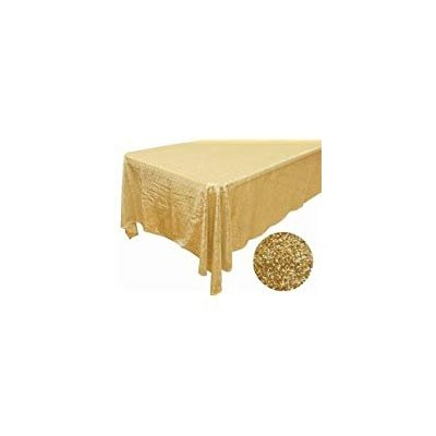 (Gold) - TRLYC 120cm 180cm Sparkly Gold Rectangle Shimmer Sequin Overlay Decor Sparkly Wedding...
