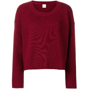 Pinko cut-out detail sweater - レッド
