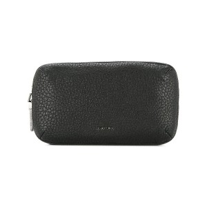 Cerruti 1881 double zip clutch bag - ブラック