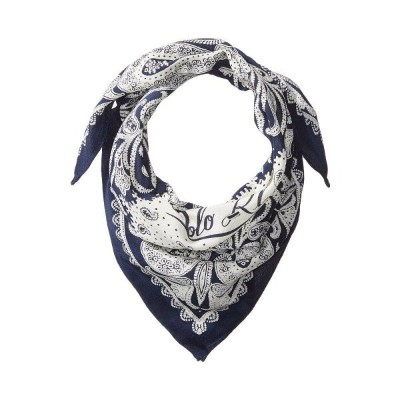ラルフ ローレン Polo Ralph Lauren レディース バンダナ【Washed Silk Bandana】Navy/Cream