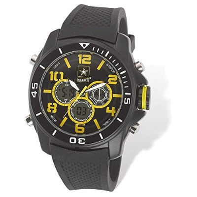 US Army Wrist Armor c24Watch Blk/Yellow Dial & Blk Rubber Strap