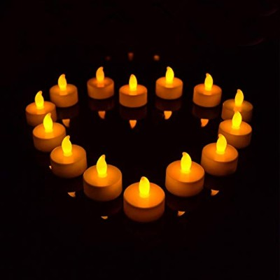GPCT [Set of 24] Flickering [Flameless] Cordless LED Tealight Candles. Great for Wedding, Marriage,...