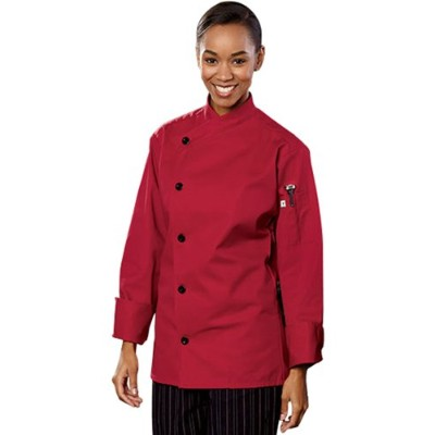Uncommon Threads 0482-1909 Rio Chef Coat in Red - 5XLarge