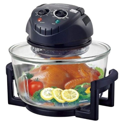 ハロゲン コンベクション ガラス オーブン Excelvan 12 Quart 1200W Halogen Tabletop Countertop Convection Cooking...