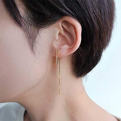 LAH(LAH) FORM 2way チェーンピアス【キュービックジルコニアクリア/ONE SIZE】