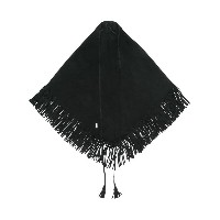 Saint Laurent fringed triangle foulard - ブラック