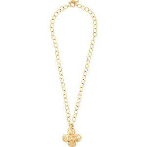 Chanel Vintage Chanel CC logos chain necklace - メタリック