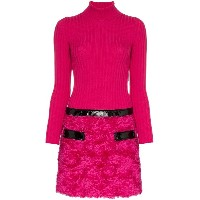 Moschino Knitted Two Piece Cotton-Blend Dress - ピンク&パープル