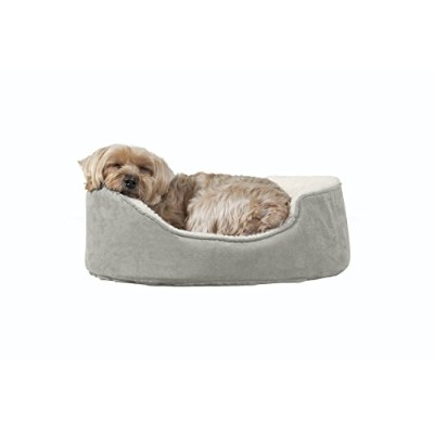 Furhaven Pet NAP Pet Bed Orthopedic Oval Egg-Crate Lounger Dog Bed or Cat Bed, Small, Clay by...