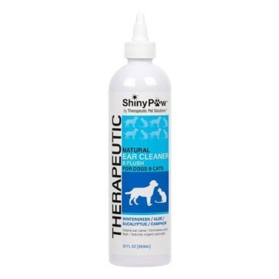 Shiny Pawテつョ All-Natural Therapeutic Ear Cleaner for Dogs & Cats - 12 oz by Therapeutic Pet...
