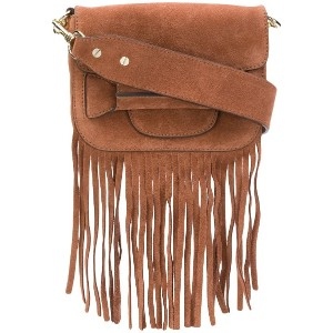 Tila March Ali fringed mini bag - ブラウン