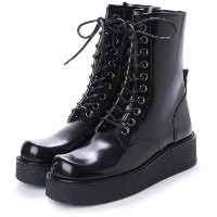 ディガウト DIGOUT GHERCI (10 Eye Rubber Sole Boots) (BLACK) レディース