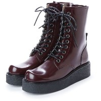 ディガウト DIGOUT GHERCI (10 Eye Rubber Sole Boots) (WINE RED) レディース