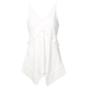 Derek Lam 10 Crosby Cami with Ruffle Detail - ホワイト